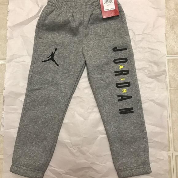 Nwt Air Jordan Grey Sweatpants 4t
